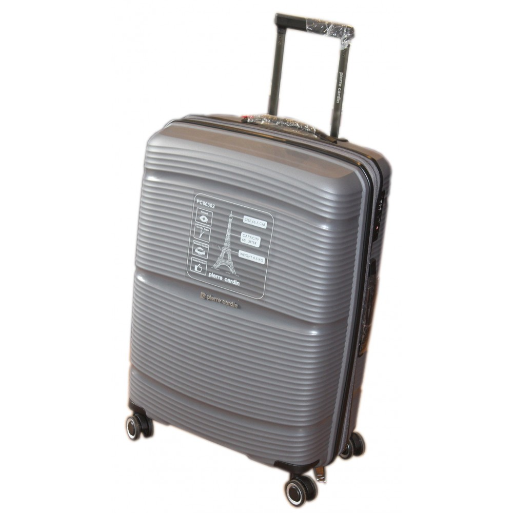 VALISE PIERRE CARDIN, COULEUR CHAMPAGNE VAL-PC86302CH/GRAND MODEL
