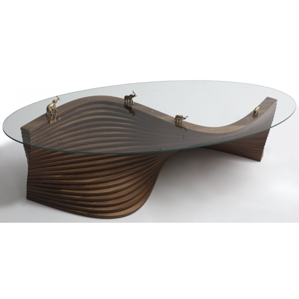 Serpentine oval staircase pedestal table G-150