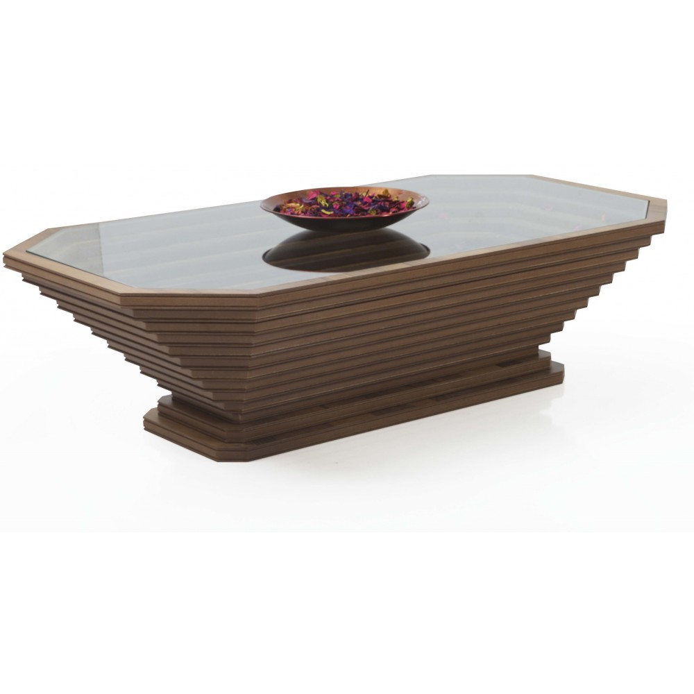 Rectangular pedestal table with stairs G-128