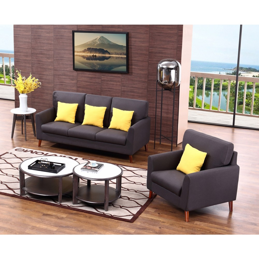 LEA Sofa set: 3 Seater + Armchair (The Cushions are not included in the prices).