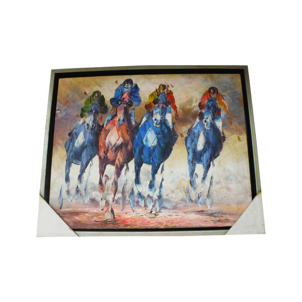 Decorative Wall Painting Horse Men With Lit A Etage But